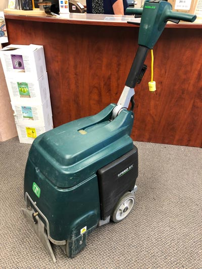 Used Nobles Carpet Cleaner Walk-Behind with Brush